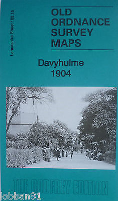 Old Ordnance Survey Detailed Maps Davyhulme Lancashire  Godfrey Edition New