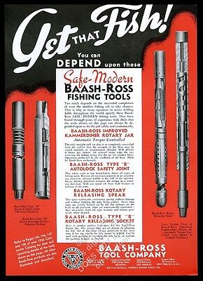 1936 Baash-Ross oil well drilling fishing tools 4 types vintage print ad