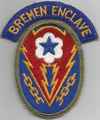 WW 2 US Army European Theater of Operations Patch & Bremen Enclave Tab Inv# F637
