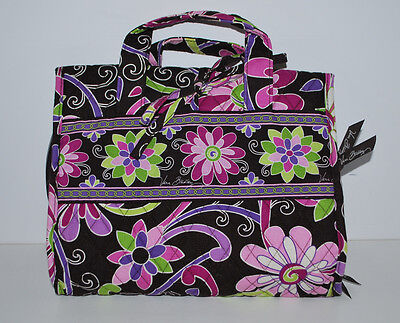 Vera Bradley Purple Punch Roll up Travel Accessory Cosmetic Hanging Bag