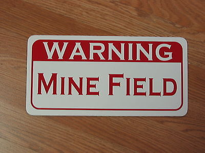 WARNING MINE FIELD Metal Sign 4 Retro-vintage Tin Military Land Security
