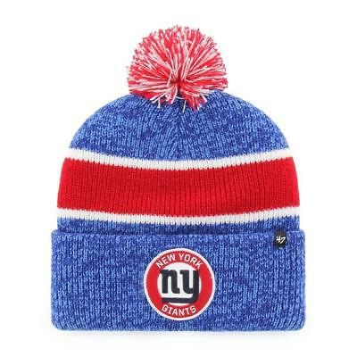 8f00e60b441 NEW YORK GIANTS 47 Brand Knit Hat Noreaster Cuff Beanie Pom Stocking ...