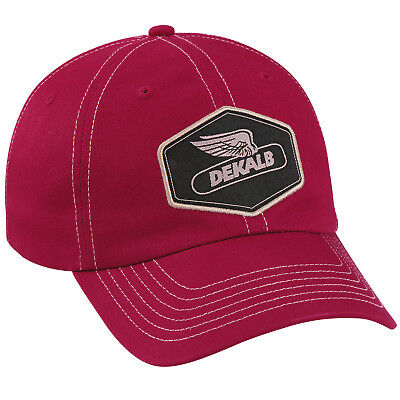 DEKALB SEED *DARK RED TWILL* Logo CAP HAT *BRAND NEW* DS56