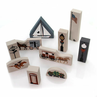 Cats Meow Village 1988 ACCESSORY SET / 10 Accessory Retired 1993 1988 Set/10
