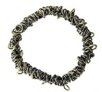 1 Brass Oxide Bungee Bracelet / Stretchable Metal Chain / Add Charms