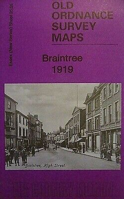 OLD ORDNANCE SURVEY MAPS BRAINTREE ESSEX 1919 Sheet 35.05 Brand New