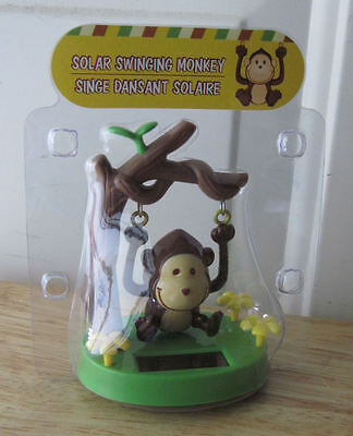 Solar Swinging Monkey Hanging from Tree Branch - New in Package!