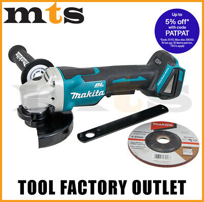 Makita 18v Brushless 125mm Angle Grinder With Paddle Switch DGA508