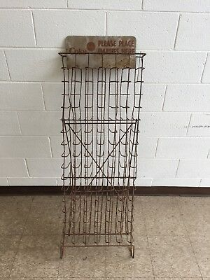 Antique Coca Cola Coke Bottle Rack & Sign