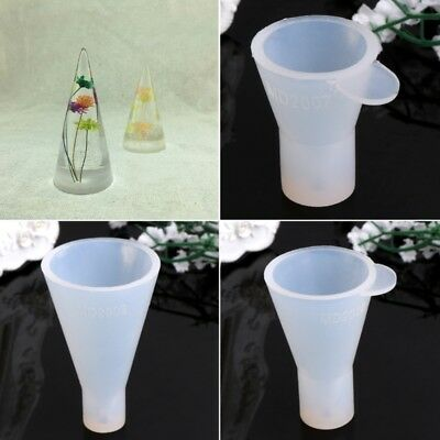 Silicone DIY Pendant Mold Making Cone Jewelry Display Rack Resin Casting Mould