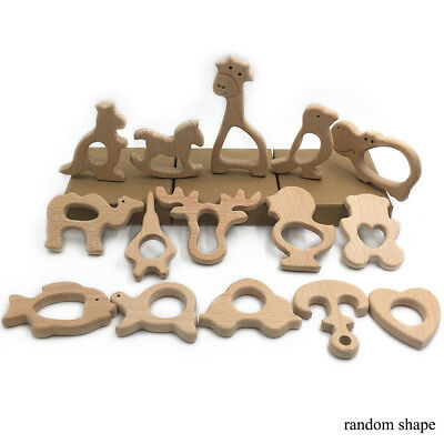 Baby Beech Gnashing Toy Natural Wood DIY Craft Ornament Jewelry Making Accessory