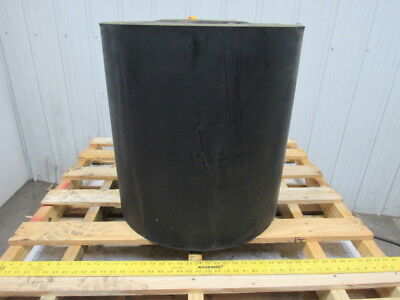 "1/2"" Thick 2-Ply Heavy Duty Black Smooth Rubber Conveyor Belt 79'L x 24""W"