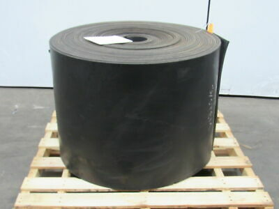 "1/2"" Thick 2-Ply Heavy Duty Black Smooth Rubber Conveyor Belt 80'L x 24""W"