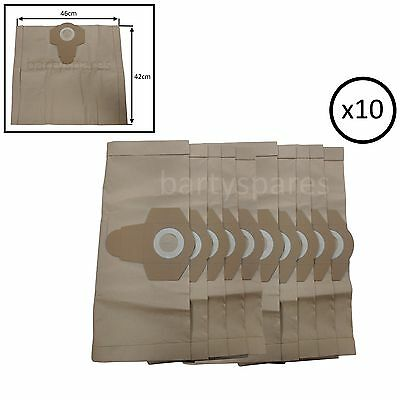 10 Strong Dust Bags for  TITAN screwfix Wet & Dry Vacuum Cleaner hoover 30L