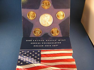 2008 United States Mint Annual Uncirculated Gem Dollar Coin  Set