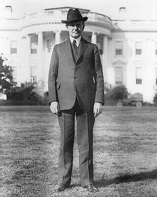 PRESIDENT CALVIN COOLIDGE WHITE HOUSE LAWN 8x10 SILVER HALIDE PHOTO PRINT