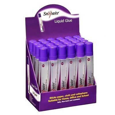 Snopake LIQUID GLUE Clear Paper, Card, School Pack of 24. 30g or 50g sizes