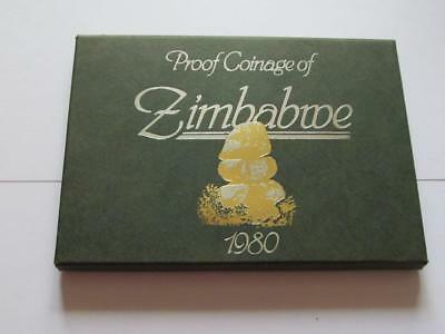 Royal Mint Zimbabwe 6 x Proof coin Set dated 1980 - 1 Cent to 1 Dollar