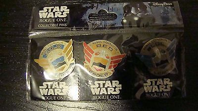 ~Star Wars Booster Rogue One Rebel Squadron Leaders Trading Pin Set Disney Parks