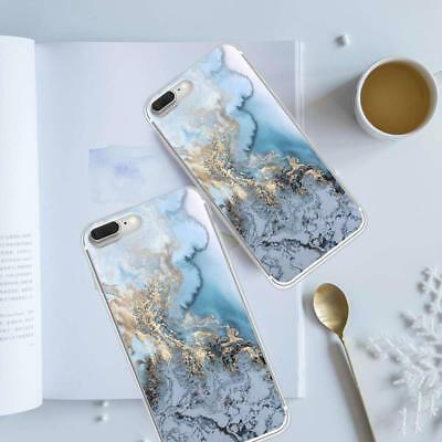 Art Glossy Granite Marble Soft TPU Phone Case Cover For iPhone X 7 6s 8 Plus SE
