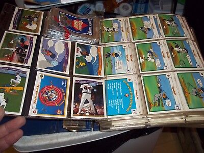 600+ 1990 Upper Deck Looney Tunes Comic Ball Cards Unsearched In Plastic Pages