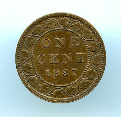 Canada ~ 1C 1887 ~ Large Cent ~ Ch Xf