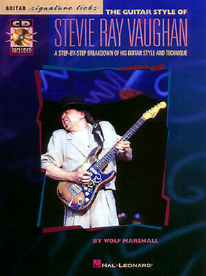 Guitar Style of Stevie Ray Vaughan Signature Licks SRV Lessons Tab Book CD NEW