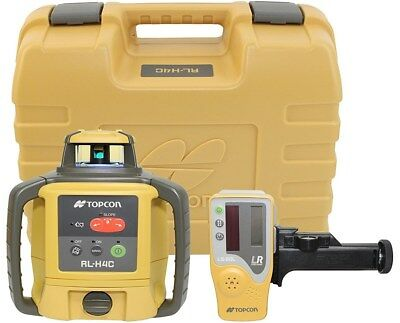 Topcon RL-H4C Self Leveling Rotary Laser Level LS-80L Receiver Alkaline Battery
