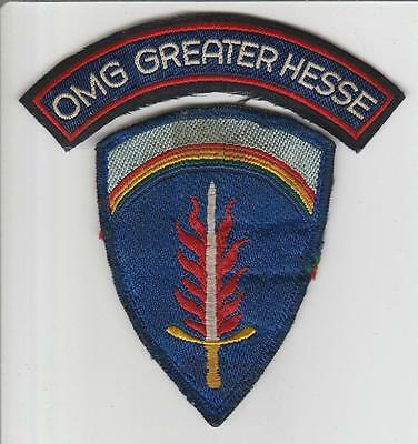 Occupation Era Office of Military Government Hesse Germany Patch & Tab Inv# S531