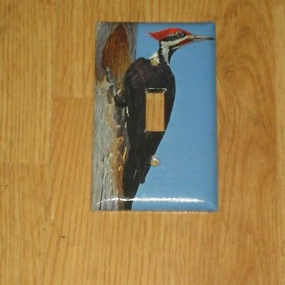 Downy Red Headed Woodpecker Wild Bird Light Switch Cover Plate #1