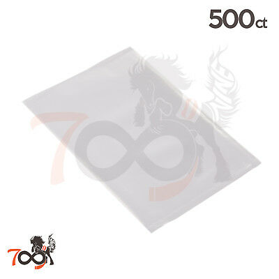 500 4 Mil 5x7 Owlpack Clear Poly Open End No Seal Plastic & Storage Bags