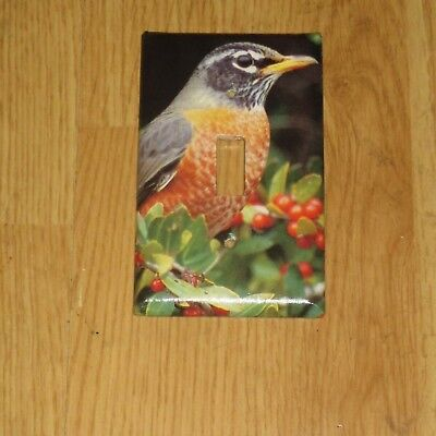 NATIVE Northern Red Robin WILD BIRD LIGHT SWITCH COVER PLATE #3