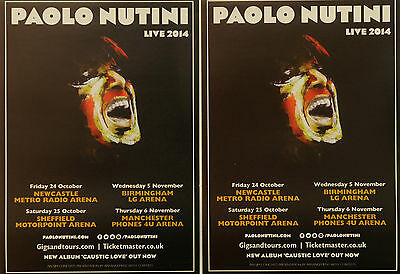 Paolo Nutini 2014 Tour Flyers X 3 - Caustic Love