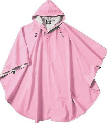 Rain Poncho Women Pink Coat Waterproof Clothing Hooded Wind Weather Protection