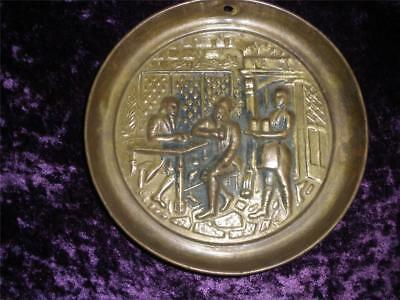 Lovely Pressed Brass Wall Hanging Plate