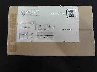 1978 mint Sets Sealed / Unopened Box of 5 Complete as Shipped by US Mint