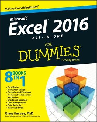 Excel 2016 All-in-One For Dummies (Paperback), Harvey, Greg, 9781119077152