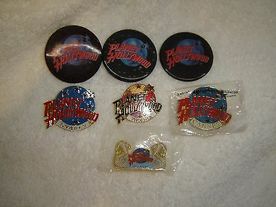 Planet Hollywood Pins lot of 7, Phoenix, Cannes, Singapore,Sydney, 3d 3 pins