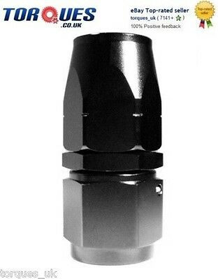 AN -12 (AN12) STRAIGHT Swivel Seal BLACK Hose Fitting
