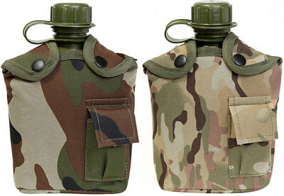 KAS Kids Army Multi Terrain & Woodland Camouflage Camo Belt Pouch Water Bottle