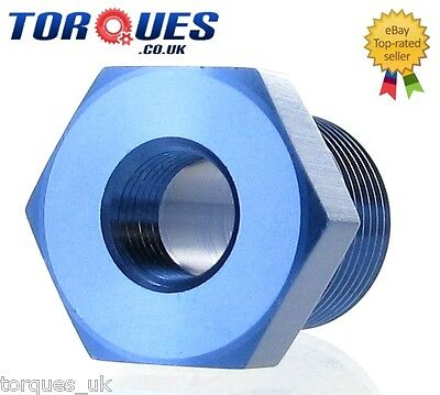 "3/8"" NPT Male to 1/8"" NPT Female Straight Adapter- Blue"