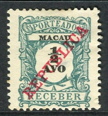 PORTUGAL MACAU  1911 early Postage Due issue Unused 1/2a. value