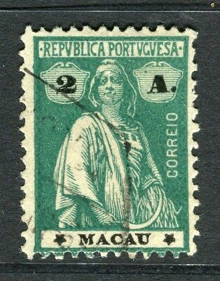 PORTUGAL MACAU  1914-20 early Ceres issue fine use 2a. value
