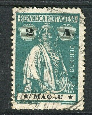 PORTUGAL MACAU  1914-20 early Ceres issue fine used 2a. value