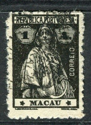 PORTUGAL MACAU  1914-20 early Ceres issue fine used 1a. value