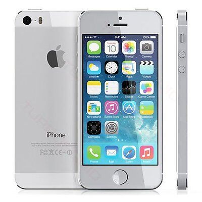 "Apple iPhone 5s (A1457) iOS 4G 16GB Sim-Free 4"" Smartphone in Silver (ML1998)"