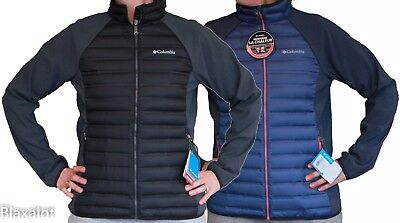 NEW COLUMBIA FLASH FORWARD HYBRID DOWN JACKET Black/Blue M-L-XL Women's Puffy
