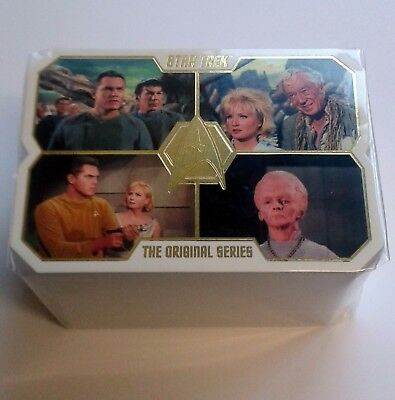 Star Trek 50th Anniversary Complete 80 Card Die Cut Base Set Rittenhouse Archive