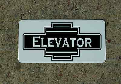 ELEVATOR Vintage Style Metal Art Deco Sign 4 Retro Apartment Office Building