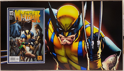 WOLVERINE Marvel comic, mounted & matted. Personally signed - HUGH JACKMAN
